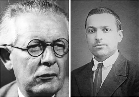 左为Piaget,瑞士心理学家,儿童发展学大师   右为Vygostky,前苏联心理学家,儿童发展、语言大师