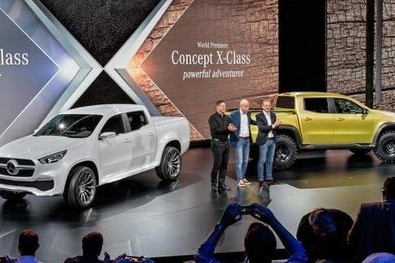 预计2017发布 奔驰X-Class概念皮卡曝光