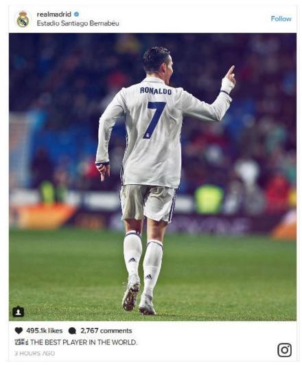 皇马官方声援c罗:他就是世界上最好的球员