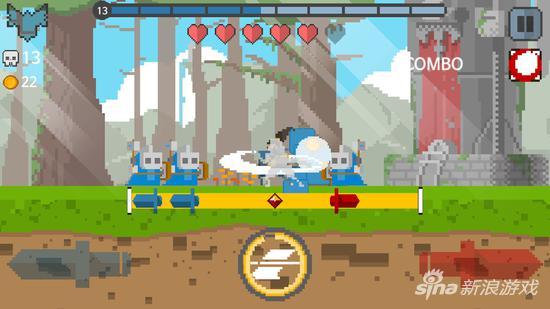 """游戏并不支持移动,玩家只能选择""""左砍""""以及""""右砍"""""""