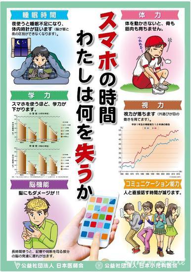手机玩得越多成绩越差 日本医生协会呼吁少玩手机