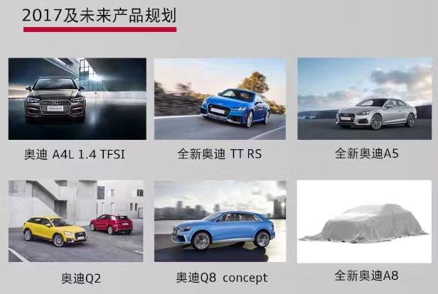 新A8/国产Q2 曝2017年奥迪新车入华计划
