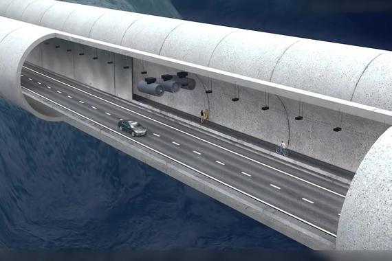 视频:未来水下漂浮隧道——悬浮在水下