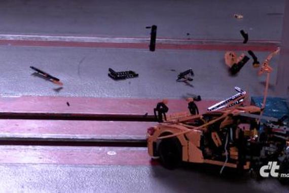 视频:乐高保时捷碰撞测试,还挺漂亮的