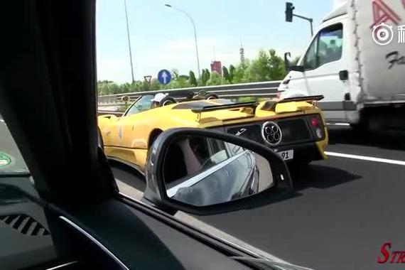 视频:奔驰高速遇到帕加尼,车主顿时就狂躁了