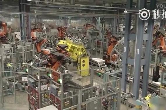奔驰A系汽车生产制造过程