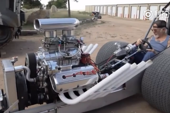 视频:国外老爷子造了两辆拉风机车,纯手工打造