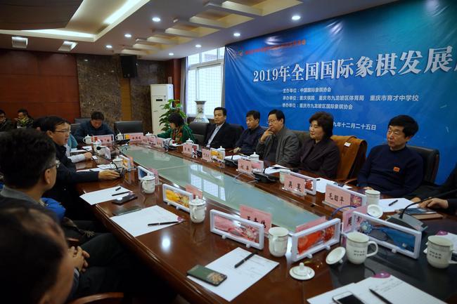 国际象棋发展座谈会(摄影:张晓露)