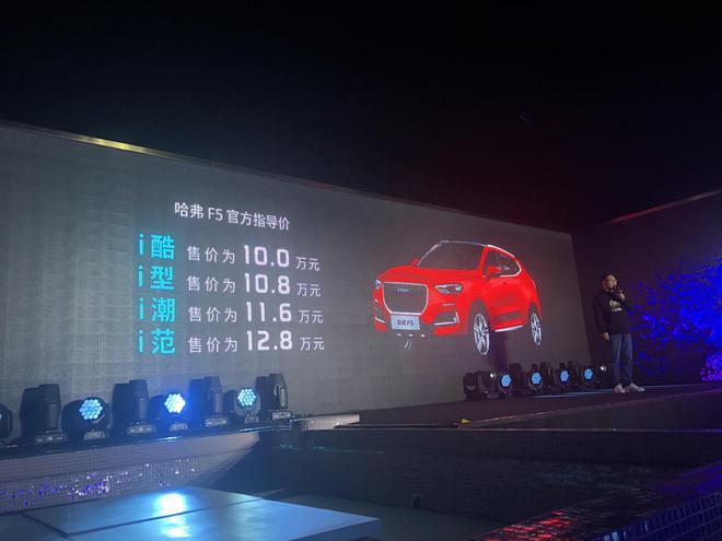 哈弗F5正式上市 4款车型售价10-12.8万元