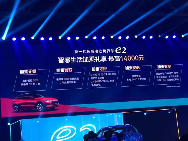 补贴后售8.98-11.98万元 比亚迪e2上市