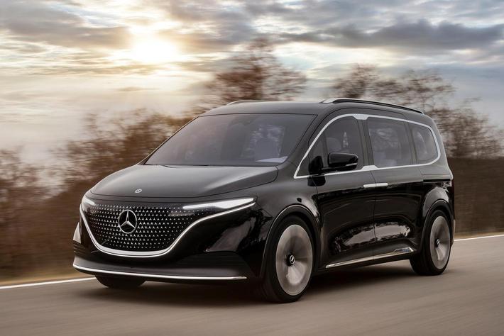 定位紧凑级MPV 奔驰纯电动EQT概念车发布 2022年上市