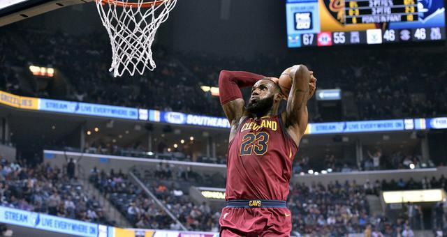 NBA-詹姆斯三双骑士胜灰熊