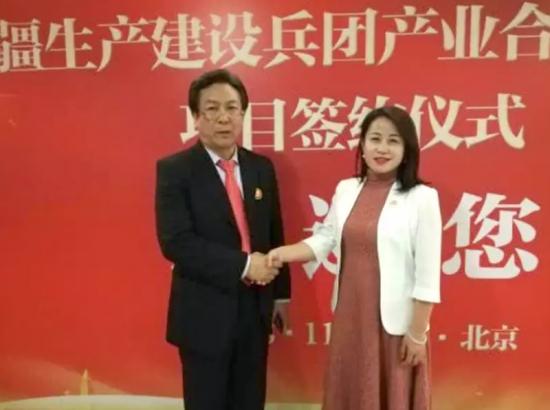 卞洪登副总裁与蒋慧团长签署战略合作协议