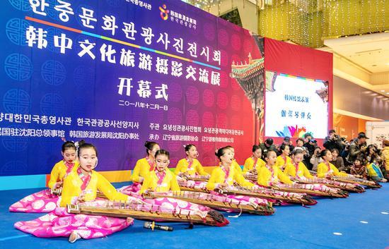 韩国传统表演:伽倻琴弹奏