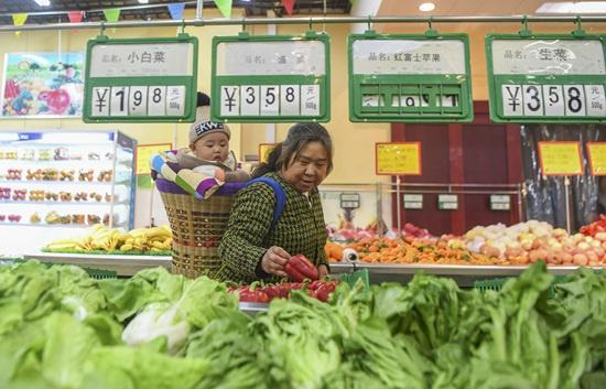 11月全国居民消费价格同比上涨4.5%