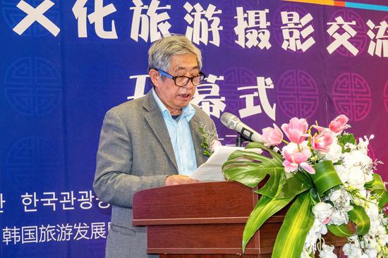 辽宁省摄影家协会名誉主席、辽宁省旅游摄影协会名誉主席刘志超致祝辞