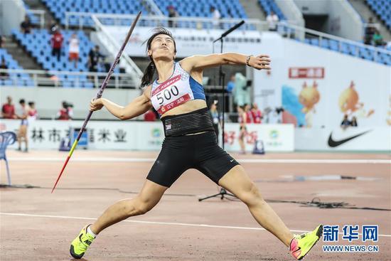 田径——吕会会创造新的女子标枪亚洲纪录