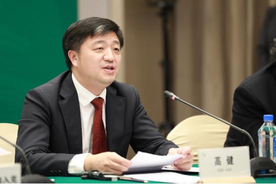图说:国家发改委国际合作司副司长高健致辞