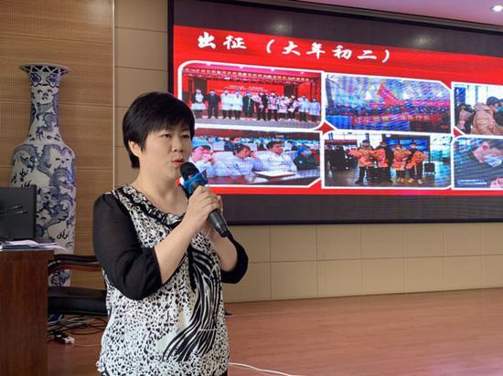郭轶男医生为同学们讲述抗疫故事。