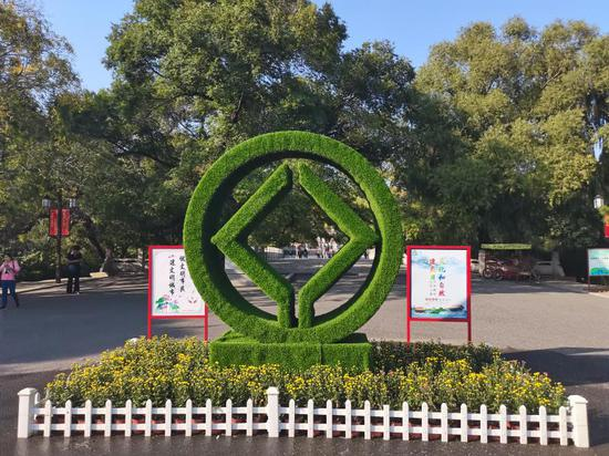 """以""""祝福祖国""""为主题 2020北陵公园国庆菊花展近日完工"""