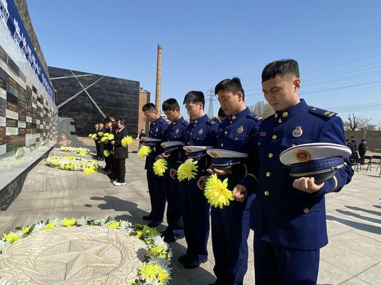 沈陽二戰盟軍戰俘營舊址陳列館舉行清明節祭奠活動