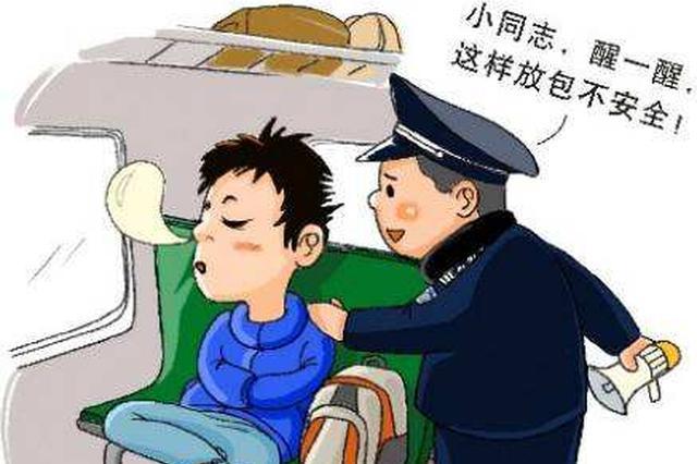 沈阳两名惯犯火车上盗窃财物 被警察当场抓获