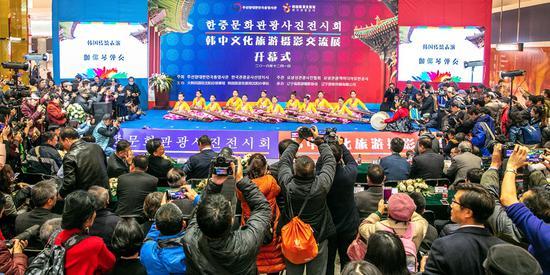 韩国传统表演:四物打击乐