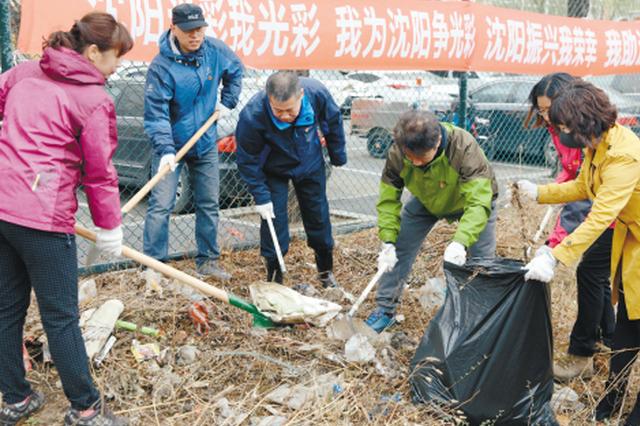 沈阳市31万余名党员群众打理社区环境