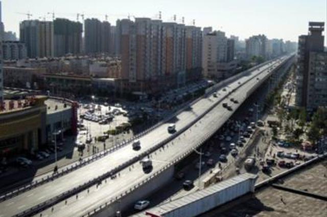 沈阳东一环快速路主体工程 昨日进场施工