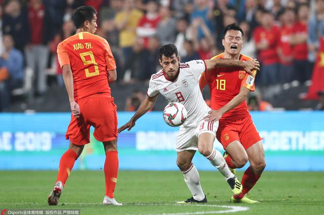 国足0比3不敌伊朗 止步亚洲杯8强
