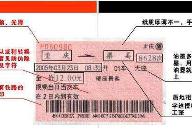 辽宁沈阳铁路警方教你如何识别假票