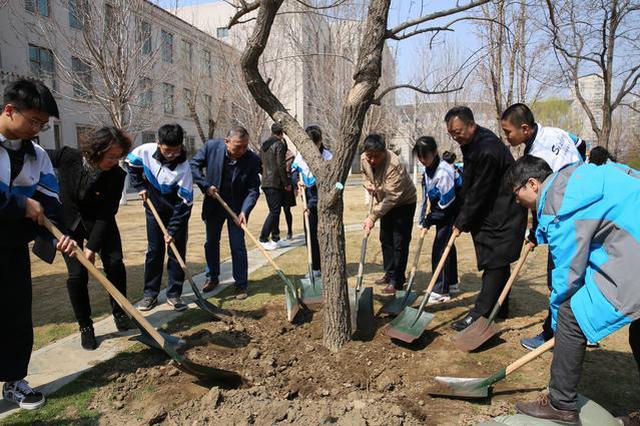 """沈阳市铁西区举行""""我与小树共成长·百校万树""""活动启动仪式"""