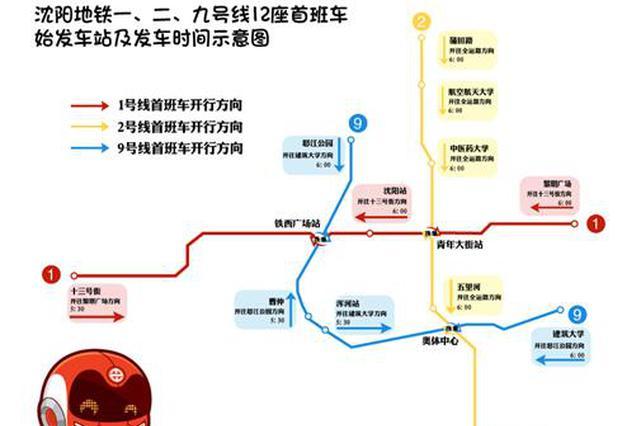 沈阳地铁九号线一期工程开通试运营时间公布 沈阳正式进入地铁