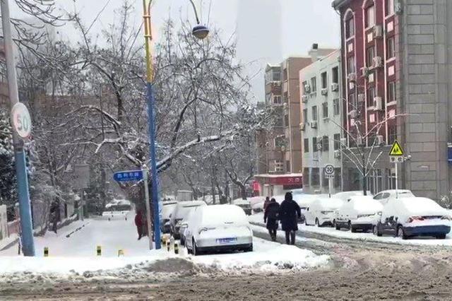 辽宁大连暴雪来袭 中小学停课机场停航