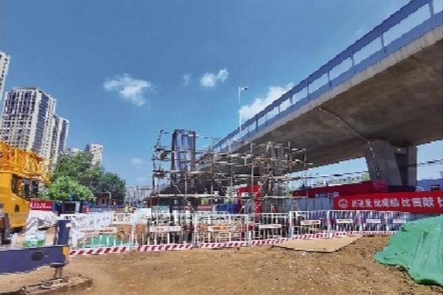 沈白客专附属工程高官台街公铁立交桥力争年底建成