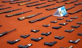 辽宁省公安机关集中统一销毁非法枪爆物品