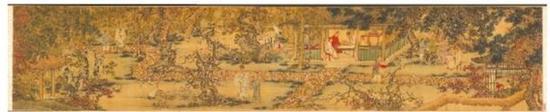 明谢环画《香山九老图》。(资料图)