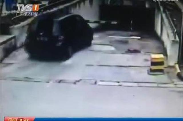 新手开车慌了神 一脚油门翻了车