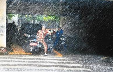 湖北全省多地发布暴雨预警并伴有大风 请注意防范