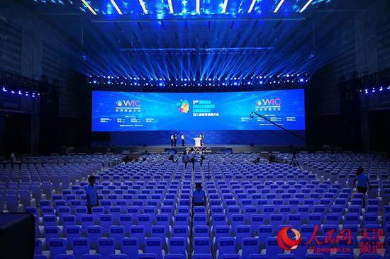 第二届世界智能大会开幕式将在天津梅江会展中心举行 摄影/崔新耀