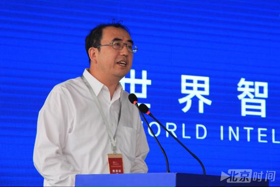 中国汽车技术研究中心董事长、党委书记、总经理于凯致辞(潘琦 摄)