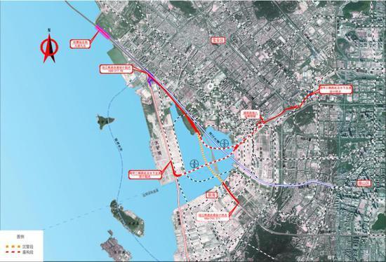 沿江高速前海段与南坪快速衔接工程总平面图