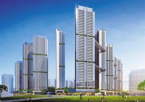 位于龙华民治街道预计12月开工的中华自行车厂大型安居社区效果图,拟建公共住房3800套