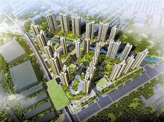 在建的光明凤凰街道长圳公共住房效果图