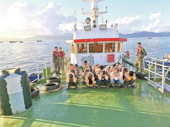 此次行动对海上非法走私和偷渡行为起到了极强的威慑作用。 深圳海警供图