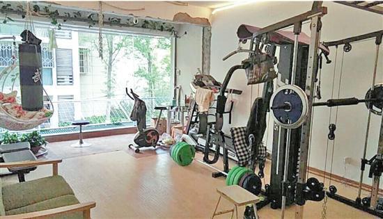 """免费向小区居民开放的""""健身房"""""""