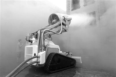 排烟灭火机器人