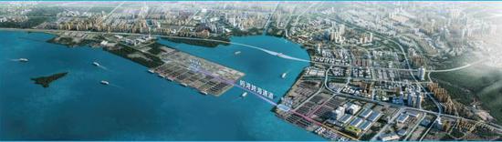 妈湾跨海通道工程示意图