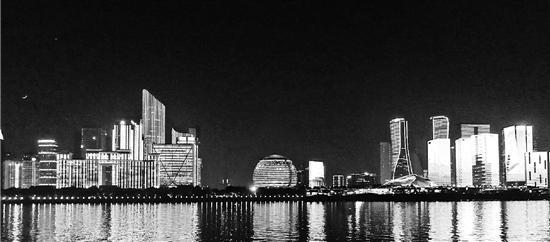 大图:钱塘江夜景