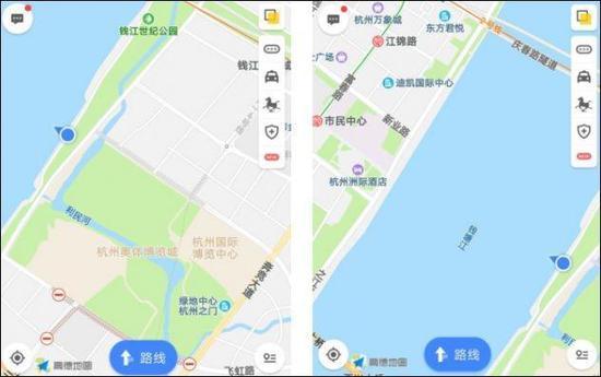 地图中的箭头是当时记者所处的位置